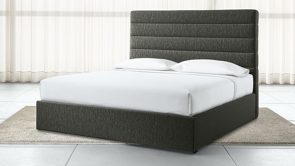 Danielle King Channel Headboard with Gas-Lift Storage Base Fog - Image 1 of 6