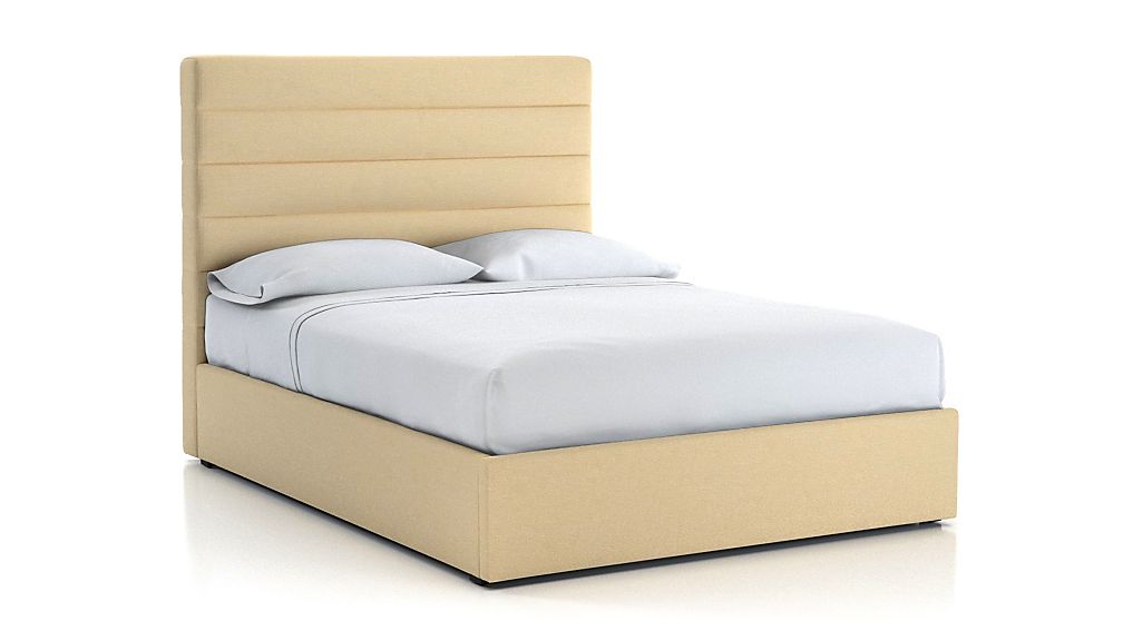 Danielle Queen Channel Headboard with Gas-Lift Storage Base Chalk - Image 1 of 5