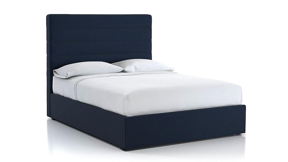 Danielle Channel Headboard with Gas-Lift Storage Base - Image 1 of 4