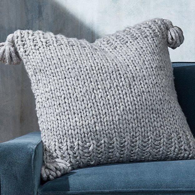 Dante Grey Tassel Pillow - Image 1 of 5