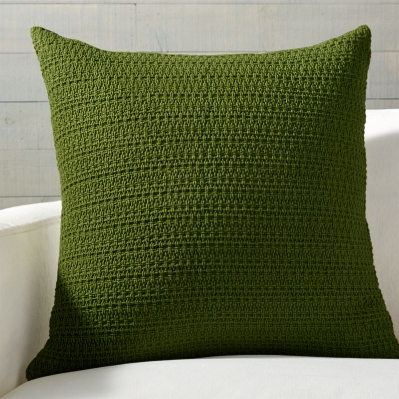 "Darby Green Hand Woven Pillow 23"" by Crate&Barrel"
