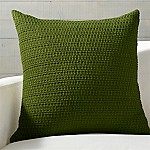 Darby Green Hand Woven Pillow with Down-Alternative Insert 23