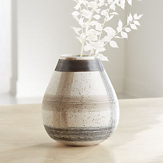 Darcy Grey Plaid Vase