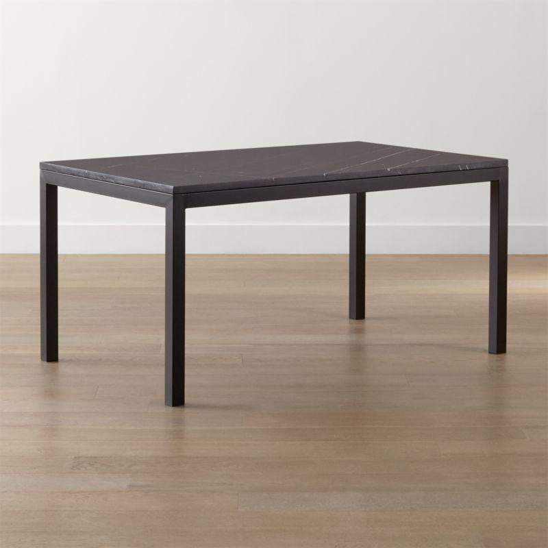 Parsons Black Marble Top/ Dark Steel Base Dining Tables