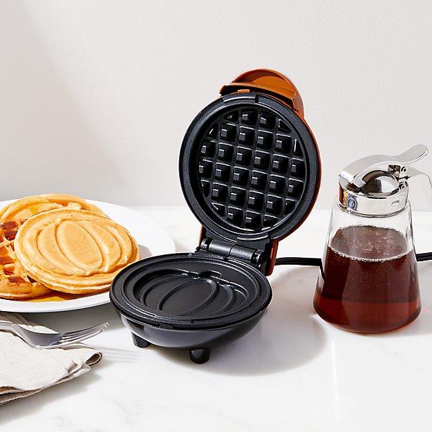 Dash Pumpkin Mini Waffle Maker Reviews Crate And Barrel
