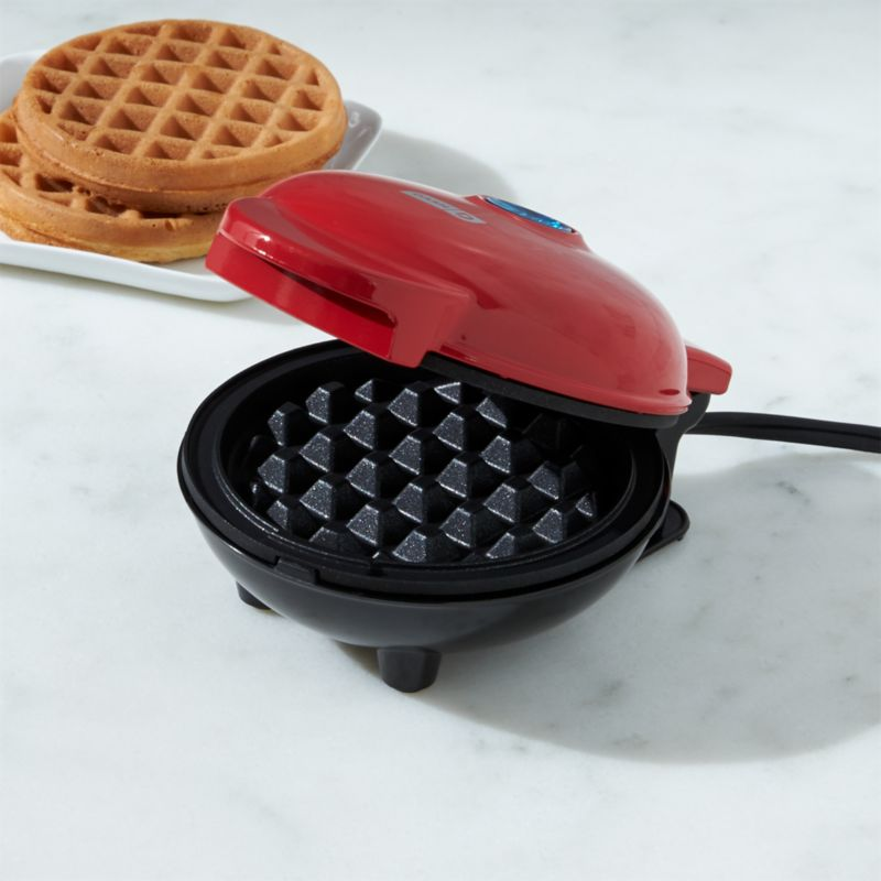 Dash Red Mini Waffle Maker Reviews Crate And Barrel