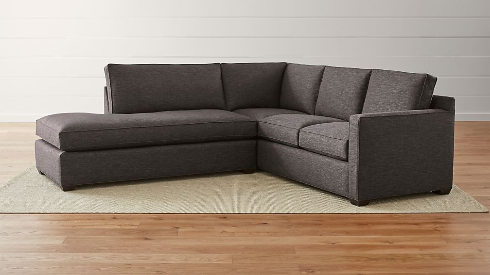 Davis 2Piece Left Bumper Sectional Sofa Crate and Barrel