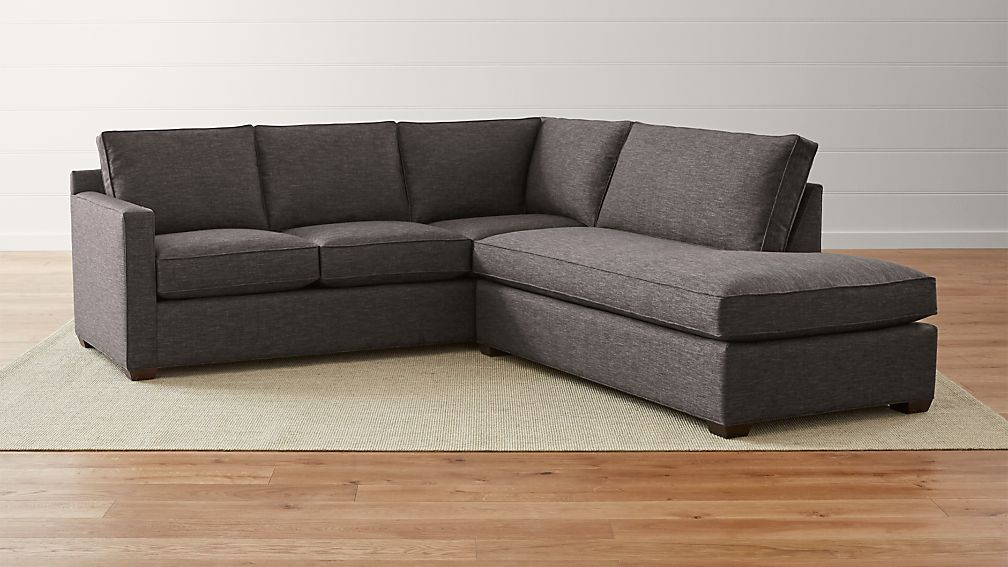Davis 2-Piece Right Bumper Sectional Sofa