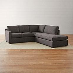 Davis right arm corner sofa reviews crate and barrel for Davis 2 piece sectional sofa