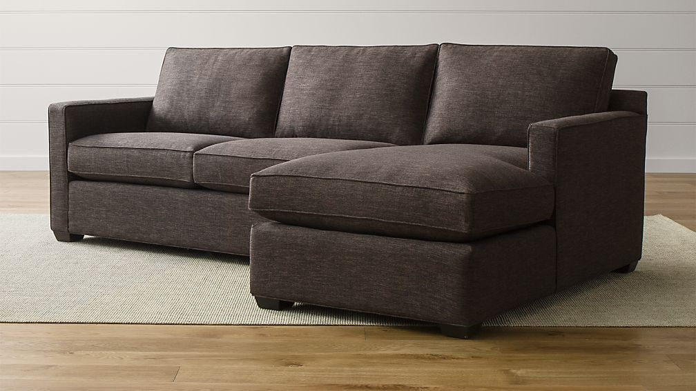 Davis Piece Sectional With Storage Ottoman Reviews Crate And - Crate and barrel replacement sofa cushions