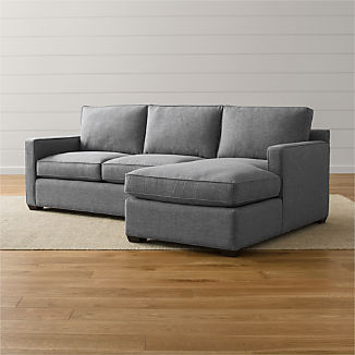 Davis Sectional Pieces and Sleepers | Crate and Barrel