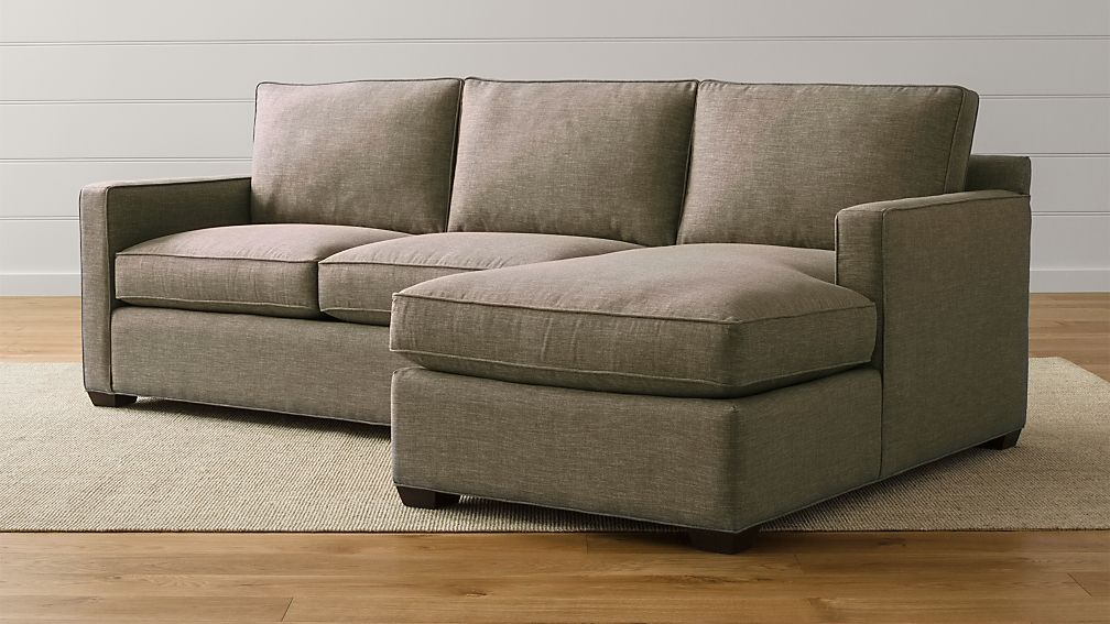 Davis 2 Piece Right Arm Chaise Sectional Sofa Reviews Crate And Barrel