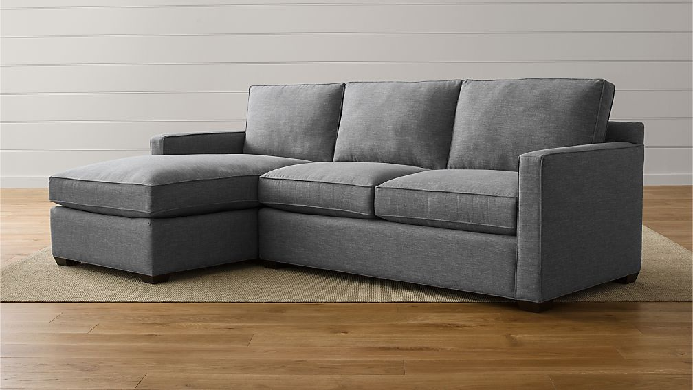 Davis 2Piece Sectional Sofa Crate and Barrel