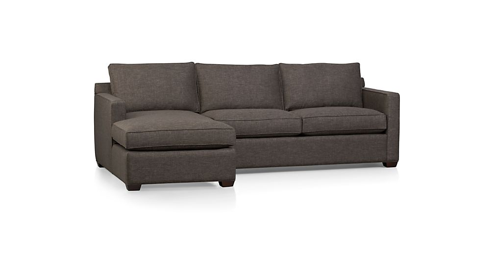 ... Davis 2-Piece Sectional Sofa ...  sc 1 st  Crate and Barrel : 2 piece sectional sofa - Sectionals, Sofas & Couches