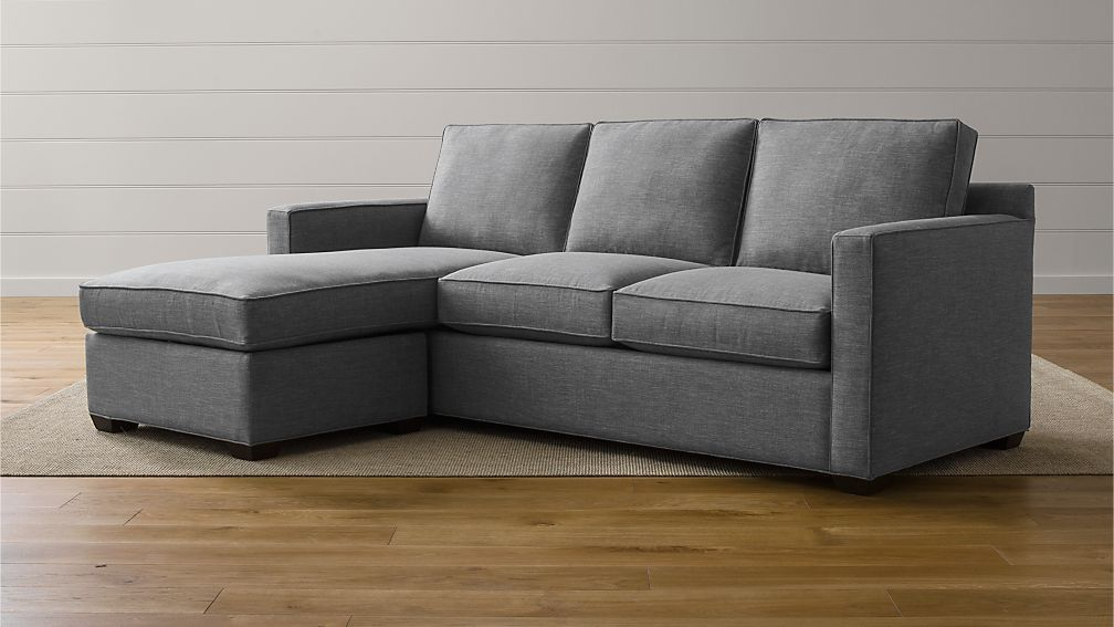 Davis 3-Seat Lounger ... : crate and barrel axis ii sectional - Sectionals, Sofas & Couches