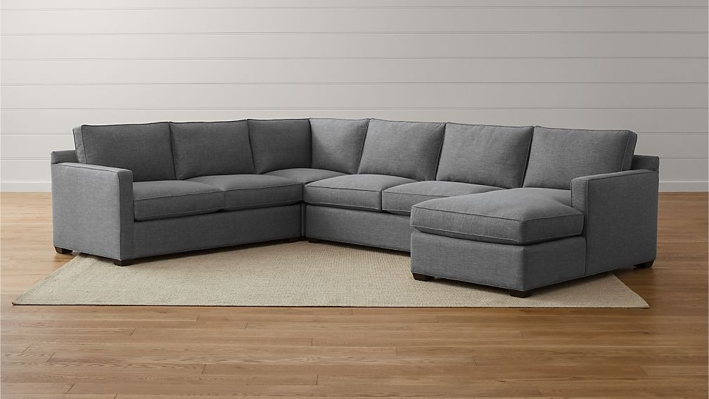 Davis Small Fabric Sectional Sofa Crate And Barrel