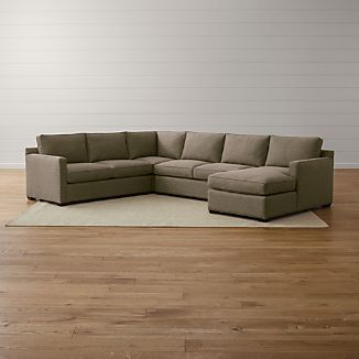 Davis 4-Piece Right Arm Chaise Sectional Sofa