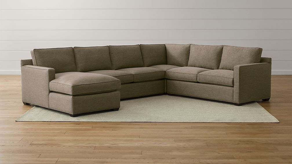 Davis 4-Piece Left Arm Chaise Sectional Sofa ... : 4 piece sectional with chaise - Sectionals, Sofas & Couches