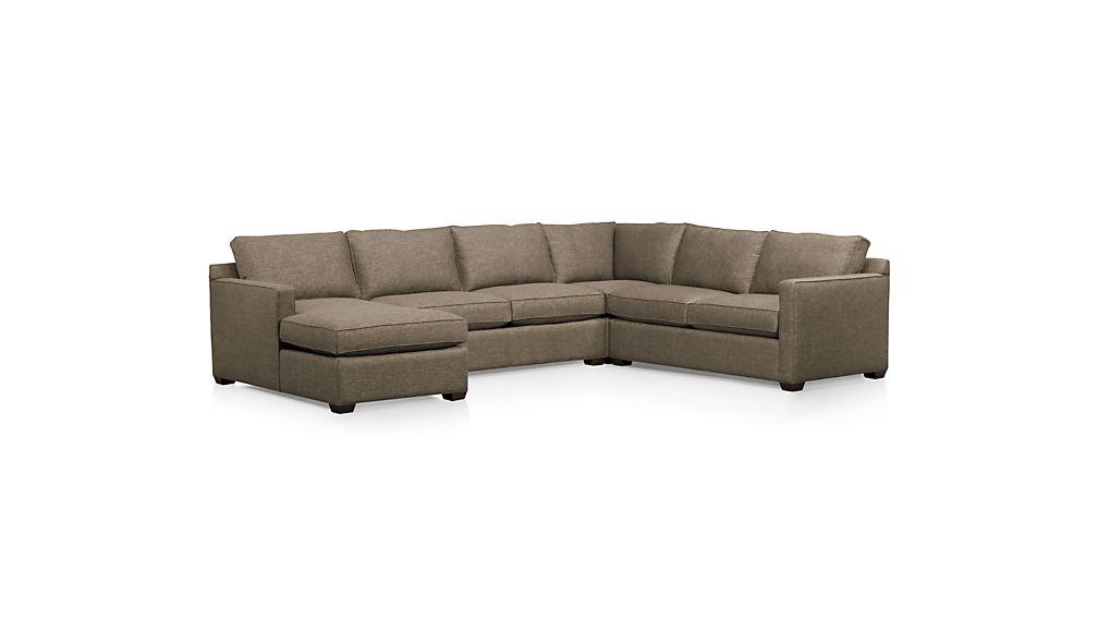 Davis 4-Piece Left Arm Chaise Sectional Sofa