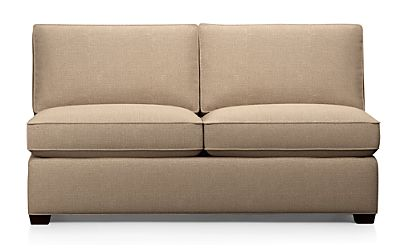 Davis Armless Full Sleeper Sofa Darius Mink