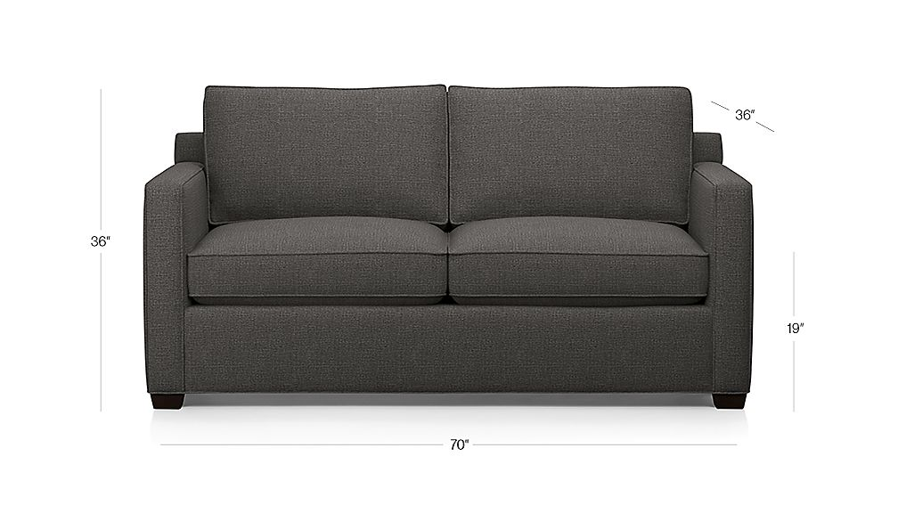 TAP TO ZOOM Image With Dimension For Davis Full Sleeper Sofa With Air  Mattress