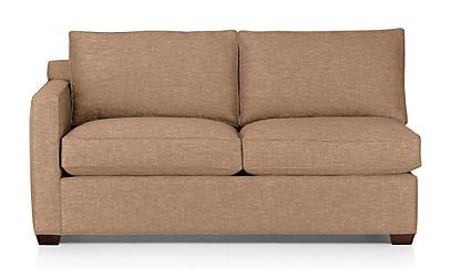 Davis Left Arm Full Sleeper Sofa with Air Mattress Darius Mink