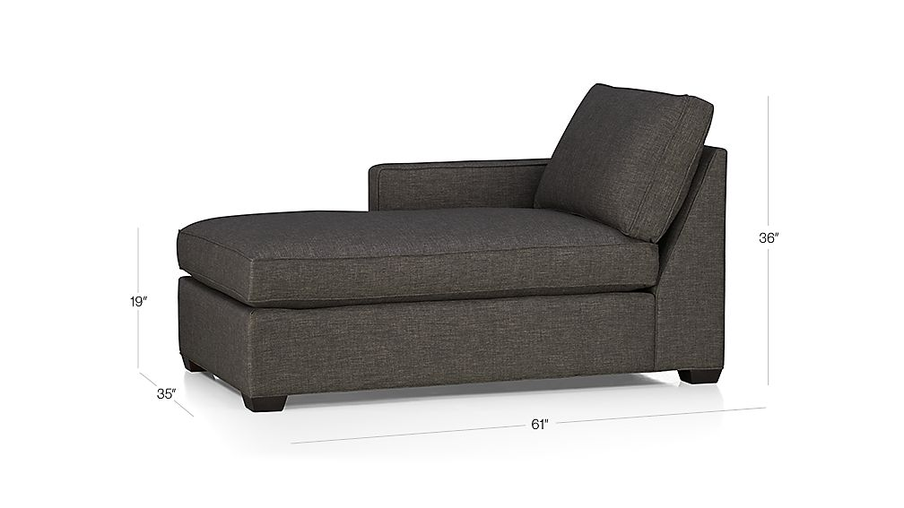 Davis Left Arm Chaise Crate And Barrel