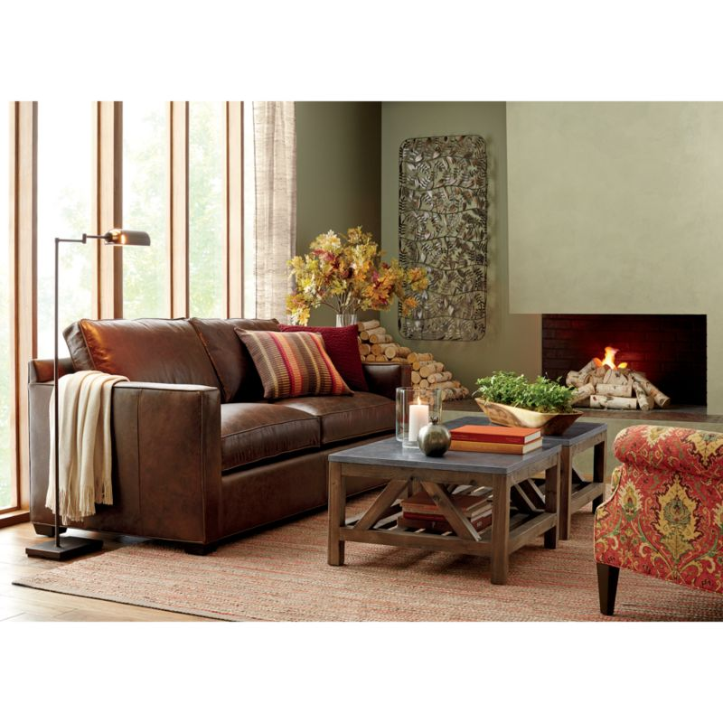 Davis Comfortable Leather Sofa Reviews Crate and Barrel