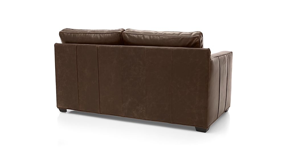 Davis Leather Left Arm Apartment Sofa