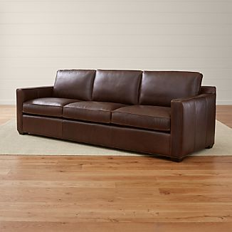 "Davis Leather 3-Seat 103"" Grande Sofa"