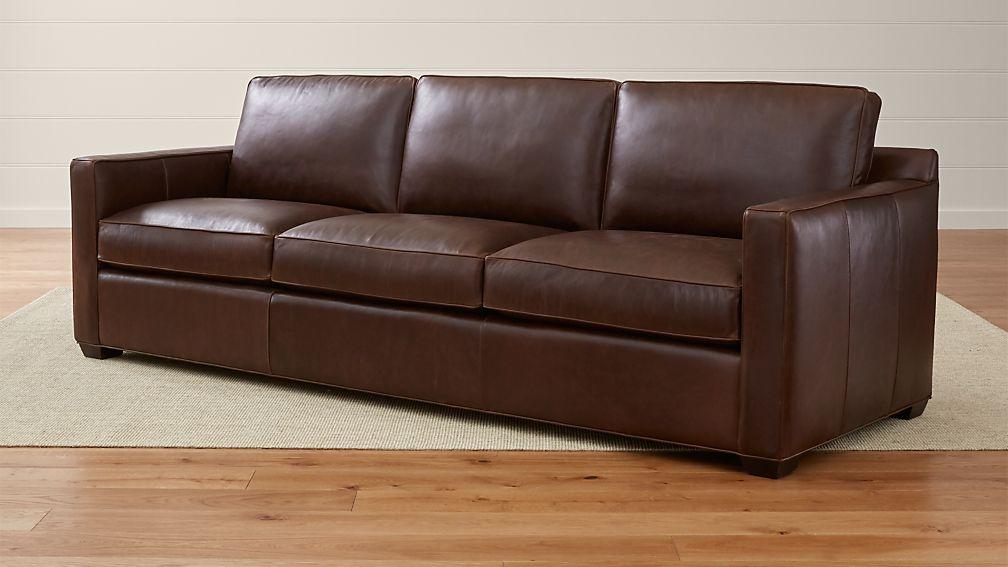Crate And Barrel Leather Sofa Davis Leather 3 Seat Sofa