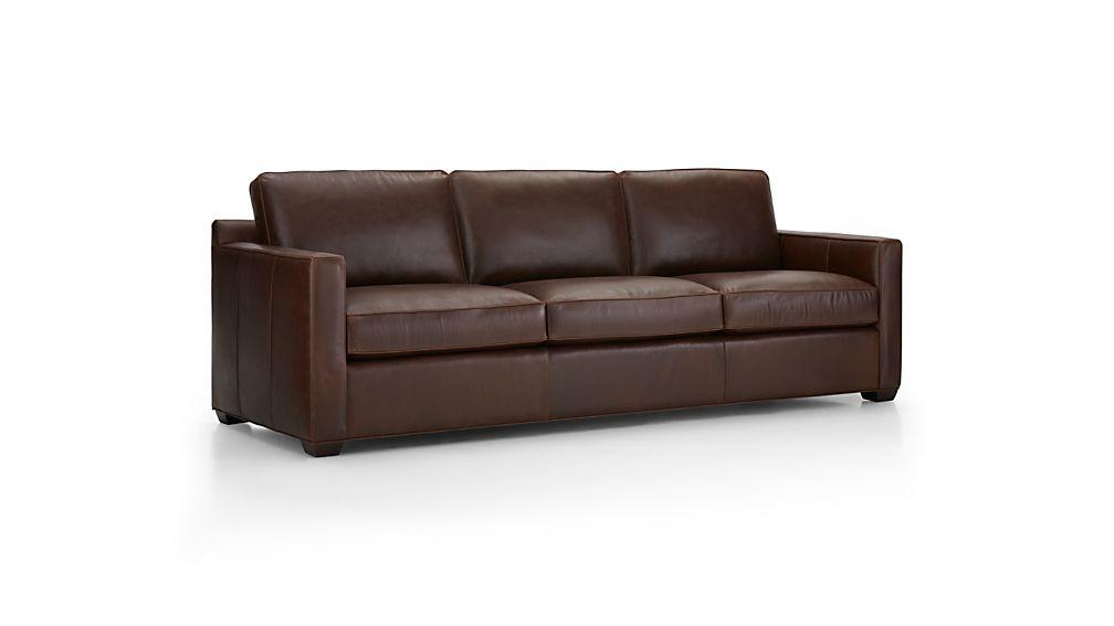 "Davis Leather 3-Seat 103"" Grande Sofa"