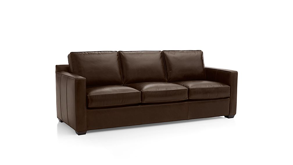 Davis Leather 3-Seat Sleeper Sofa with Air Mattress