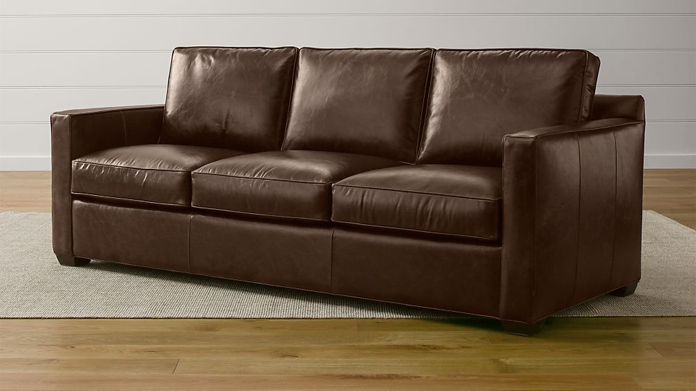 Davis Leather 3 Seat Sleeper Sofa With Air Mattress Reviews Crate And Barrel