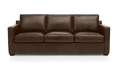 Davis Leather 3 Seat Sleeper Sofa Libby Cashew