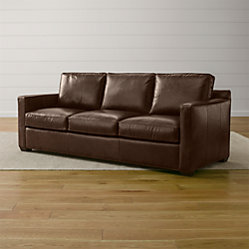 Davis Comfortable Leather Sofa Crate And Barrel
