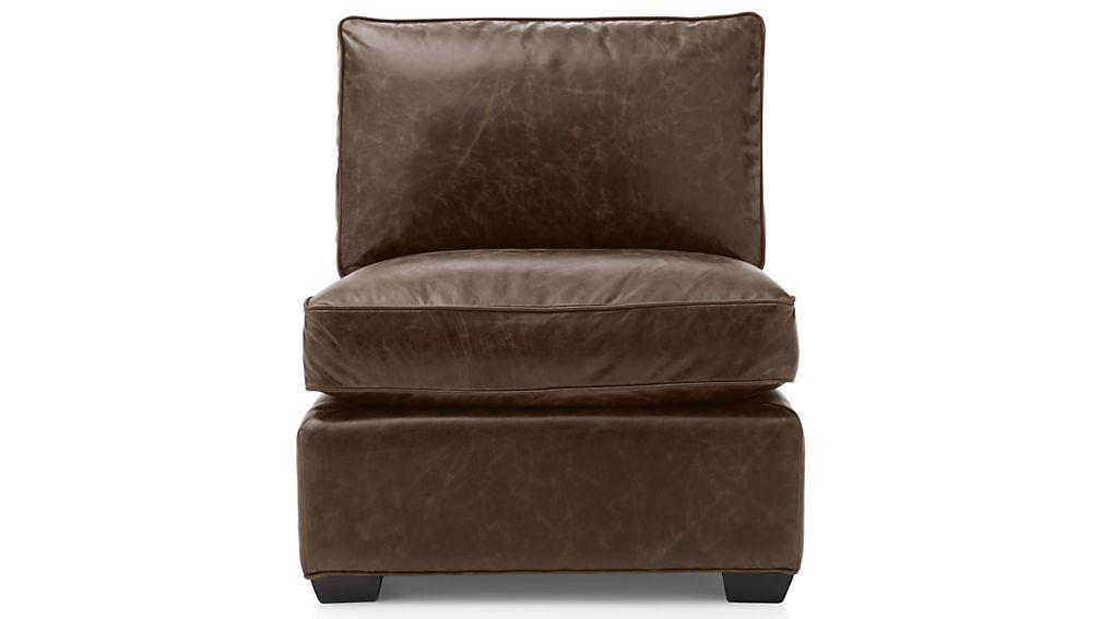 Davis Leather Armless Chair