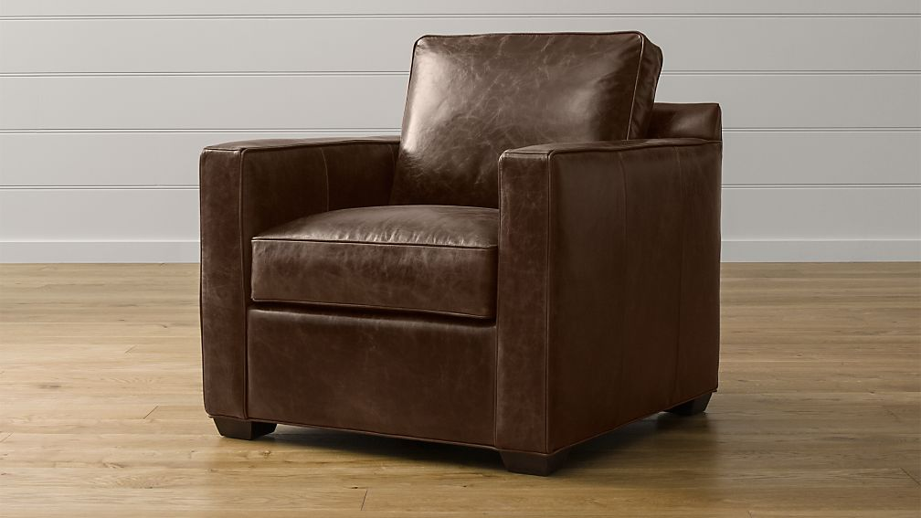 Davis Big Leather Chair | Crate and Barrel