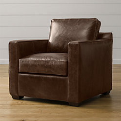 Davis Leather Swivel Chair Reviews Crate And Barrel