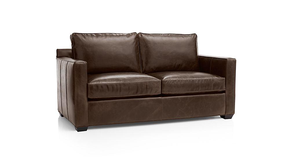 Davis Leather Apartment Sofa | Crate and Barrel