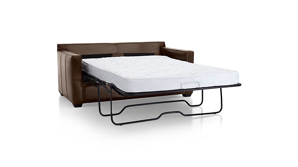 tasty sleeper sofa with air mattress. DavisLthrFullSlprAV3S15  DavisLthrFullSlprAV2S15 DavisLthrFullSlprSdS15 DavisLthrFullSlprAV1S15 Davis Leather Full Sleeper Sofa Crate and Barrel