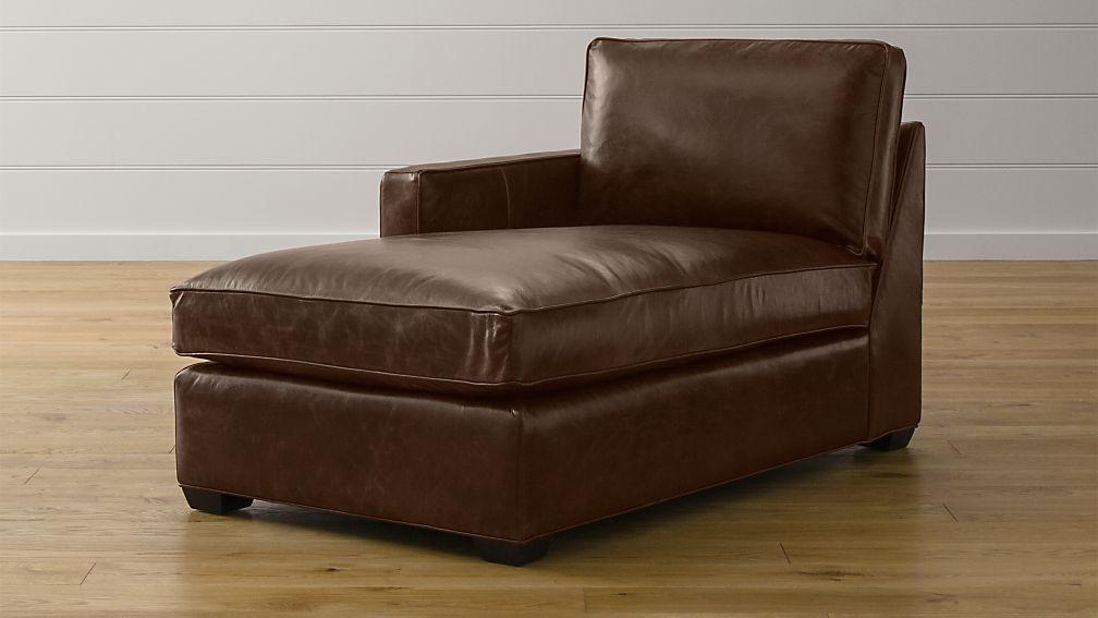 Davis Leather Left Arm Chaise