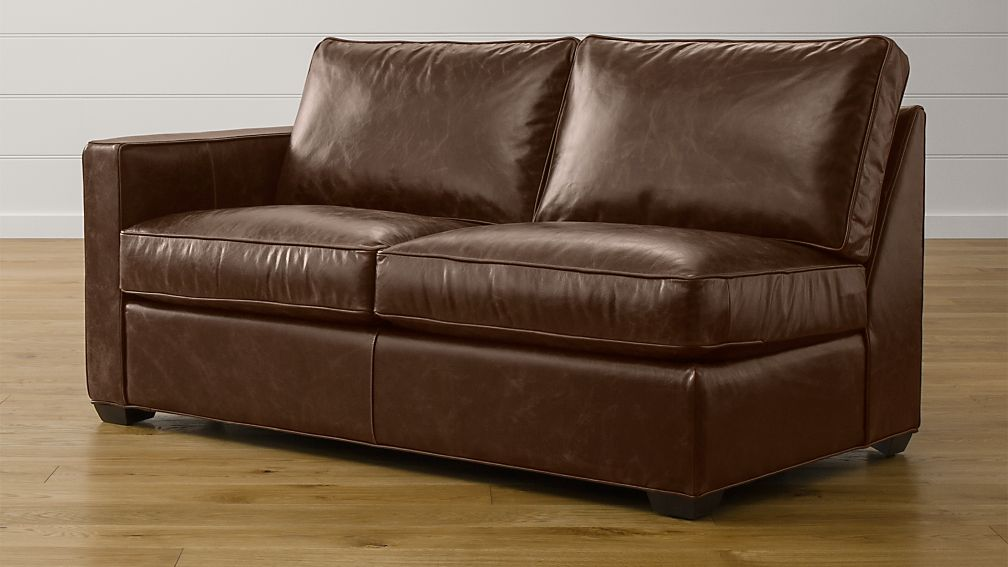 Davis Leather Left Arm Full Sleeper Sofa with Air Mattress