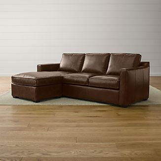 Davis Leather Left Arm Queen Sleeper Lounger