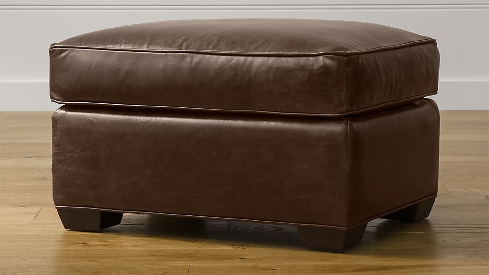 Davis Leather Ottoman