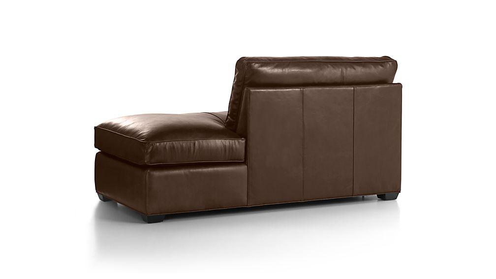 Davis Leather Right Bumper Sofa