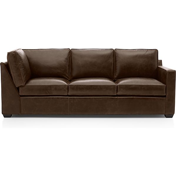 Davis Leather Right Arm Corner Sofa