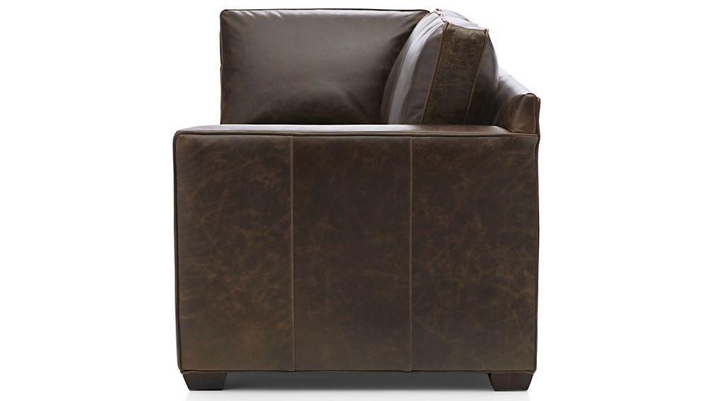 Davis Leather Right Arm Corner Sofa