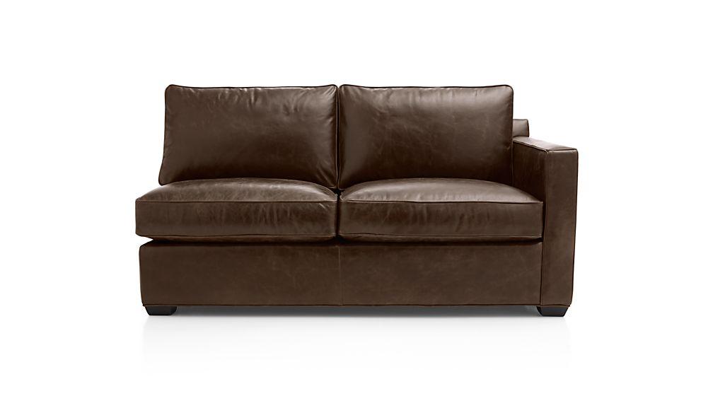 Davis Leather Right Arm Apartment Sofa