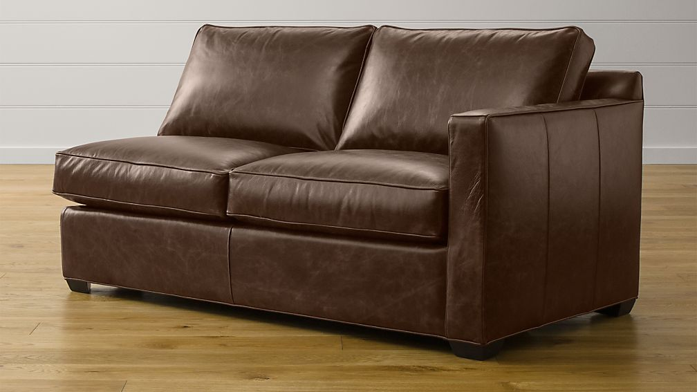 Davis Leather Right Arm Full Sleeper Sofa with Air Mattress